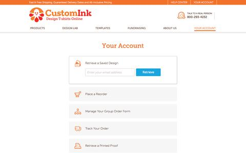 CustomInk - Your Account