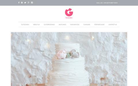 Screenshot of Home Page gutucakes.com - GutuCakes | Award Winning Baking Company | Essex - captured May 25, 2017