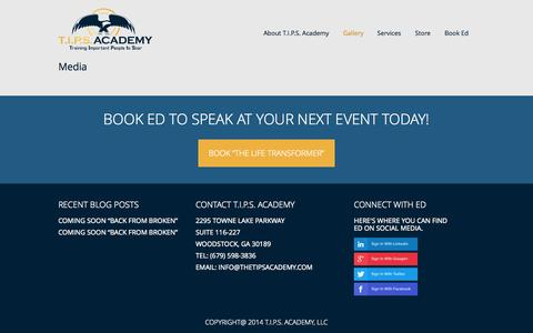 Screenshot of Press Page thetipsacademy.com - Media - T.I.P.S. AcademyT.I.P.S. Academy - captured Oct. 7, 2014