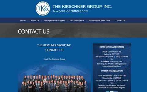Screenshot of Contact Page kirschnergroup.com - Contact Us   The Kirschner Group, Inc.   A world of difference. - captured Feb. 25, 2016