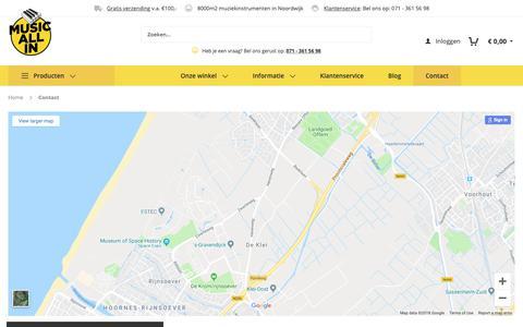 Screenshot of Contact Page musicallin.nl - Contact - captured Dec. 11, 2018