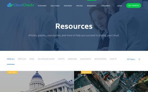 Resources - CloudCheckr