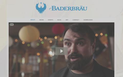 Screenshot of About Page baderbrau.com - Baderbräu  –  ABOUT - captured Oct. 5, 2014