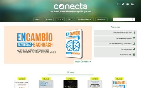 Screenshot of Home Page editorialconecta.com - Libros de empresa para profesionales | Editorial Conecta - captured Dec. 7, 2015