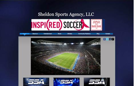 Screenshot of Home Page sheldonsports.com - Sheldon Sports Agency, LLC - captured Oct. 6, 2014