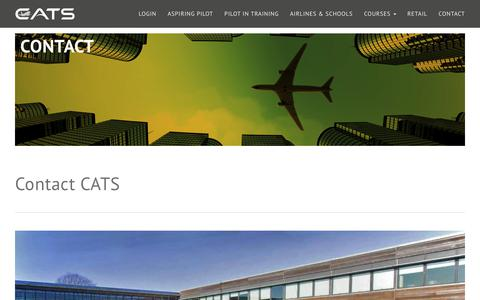 Screenshot of Contact Page catsaviation.com - CATS Aviation Training | Contact Information - captured July 7, 2017