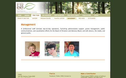 Screenshot of Team Page freefutures.org - Management « Foundation for Renewable Energy & Environment - captured Oct. 6, 2014