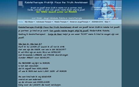 Screenshot of Home Page praktijkfacethetruth.nl - RelatieTherapie Praktijk Face the Truth Amstelveen - captured Aug. 10, 2018
