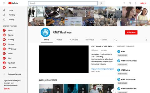AT&T Business - YouTube - YouTube