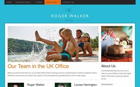 Screenshot of Team Page rogerwalkertravel.com - Our Team - Roger Walker Travel - captured June 16, 2017