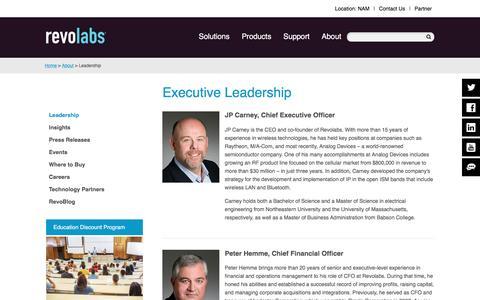 Screenshot of Team Page revolabs.com - Revolabs - Revolab's Executive Leadership Team - captured Dec. 19, 2016