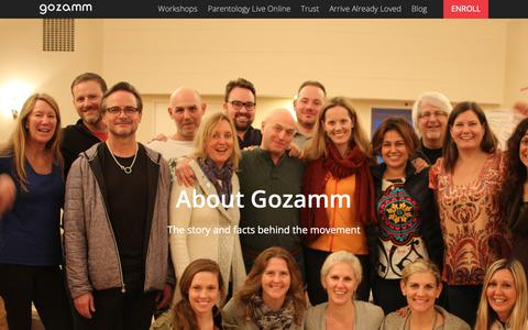 Screenshot of About Page gozamm.com - About - Gozamm - captured Sept. 26, 2018
