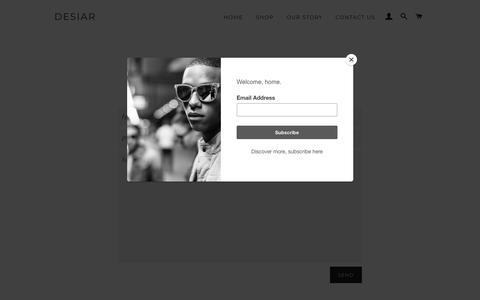 Screenshot of Contact Page desiar.com - Contact Us – DESIAR - captured Aug. 5, 2018