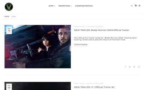 Screenshot of Press Page arcanestore.com - News - Arcane Store | movie t-shirts & clothing - captured Nov. 20, 2018