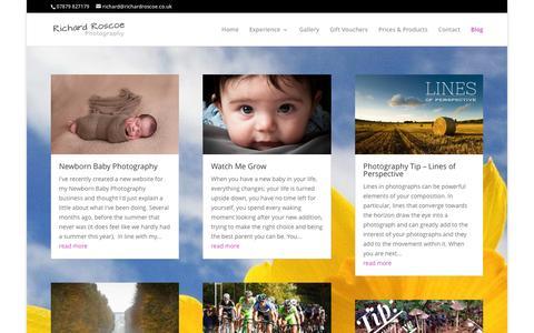 Screenshot of Blog richardroscoe.co.uk - Blog - Richard Roscoe Photography - captured Nov. 30, 2016
