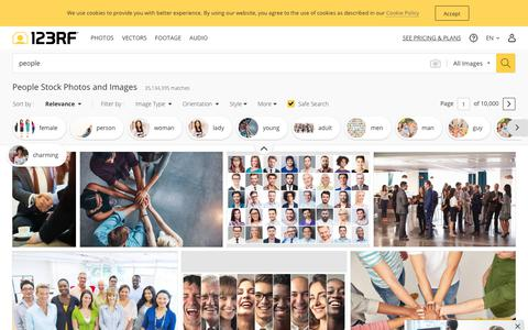 Screenshot of Team Page 123rf.com - People Stock Photos And Images - 123RF - captured Aug. 28, 2019