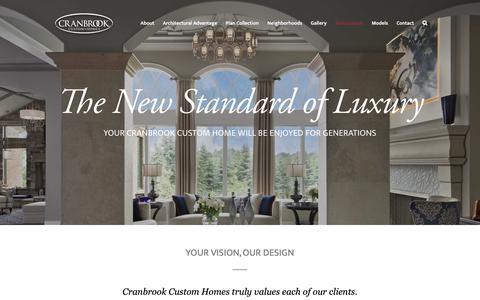 Screenshot of Testimonials Page cranbrookcustomhomes.com - Testimonials | Cranbrook Custom Homes - captured Nov. 5, 2018
