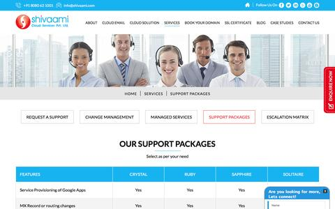 Shivaami Support Packages | Shivaami Cloud Services