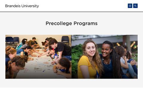 Precollege Programs | Brandeis University