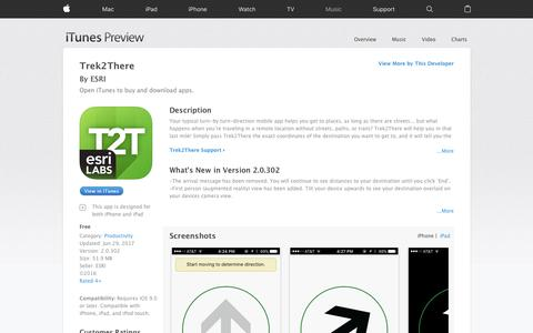 Trek2There on the App Store