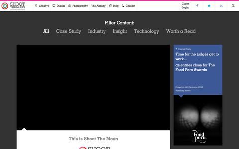 Screenshot of Home Page shoot-the-moon.co.uk - Creative agency, Shoot the Moon - captured Nov. 18, 2016