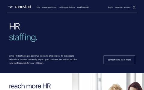 HR Staffing | Randstad USA