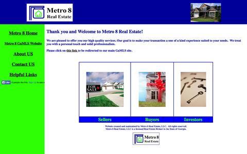 Screenshot of Home Page metro8realestate.com - Metro 8 Real Estate - captured Oct. 6, 2014