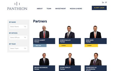 Screenshot of Team Page pantheon.com - Partners Archives | Pantheon - captured March 14, 2018