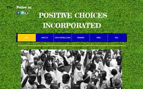 Screenshot of Home Page positivechoicesinc.org - Positive Choices, Inc. - captured Oct. 8, 2014