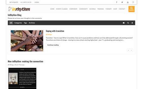 Screenshot of Blog inrhythm.com.au - Recent blog posts - InRhythm Blog - captured March 14, 2019