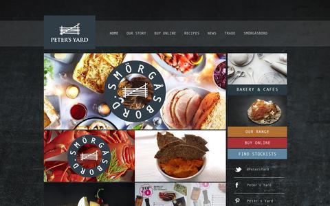 Screenshot of Home Page petersyard.com - The very best of Swedish baking. : Peters Yard - captured Dec. 8, 2015