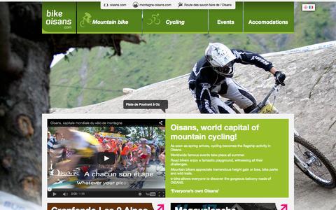 Screenshot of Home Page bike-oisans.com - Bike Oisans | Toute l'info VTT / Cyclo en Oisans - captured Oct. 14, 2015
