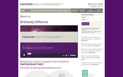 Screenshot of About Page partnerswealthmanagement.co.uk - About us | Partners Wealth Management - captured July 16, 2018