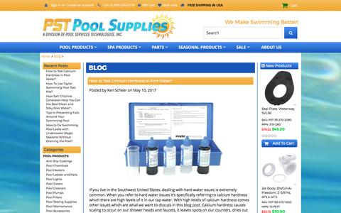 Screenshot of Blog pstpoolsupplies.com - Blog - PST Pool Supplies - captured May 13, 2017