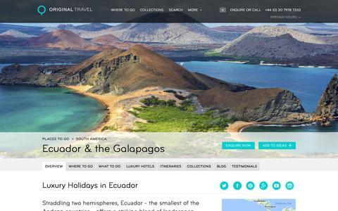Luxury Holidays Ecuador | South America | Original Travel
