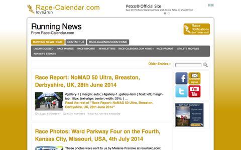 Screenshot of Press Page race-calendar.com - Running News - From Race-Calendar.com - captured Sept. 25, 2014