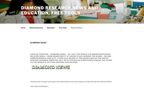 Diamond News - Diamond research,news and education, Free Tools