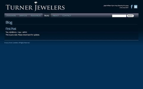 Screenshot of Blog turnerjewelers.com - Blog | Turner Jewelers - captured Sept. 30, 2014
