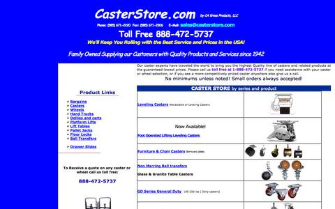 Screenshot of Home Page castersupply.com - Casters & Wheels - All models Caster Wheels at Caster Store 888-472-5737 - captured Oct. 2, 2014