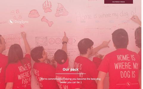 Screenshot of Team Page dogsync.com - DogSync - Our team - captured Dec. 12, 2015