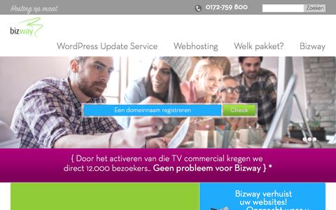 Screenshot of Home Page bizway.nl - Bizway BV – Managed Hosting - captured May 28, 2016