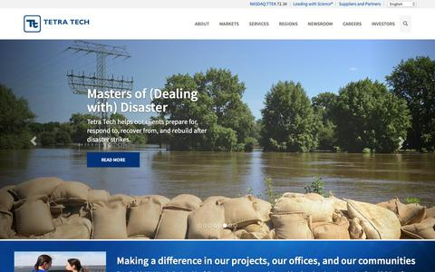 Screenshot of Home Page tetratech.com - Consulting and Engineering Firm - Tetra Tech - captured June 14, 2019