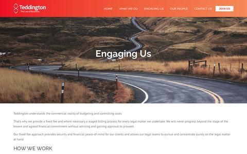 Engaging Us | Teddington Legal