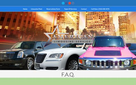 Screenshot of FAQ Page americanlimos.org - F.A.Q. Frequently Asked Questions - captured Nov. 19, 2016