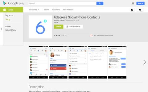 Screenshot of Android App Page google.com - 6degrees Social Phone Contacts - Android Apps on Google Play - captured Nov. 5, 2014