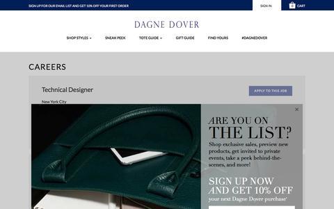 Screenshot of Jobs Page dagnedover.com - Careers - Dagne Dover - captured Dec. 4, 2015