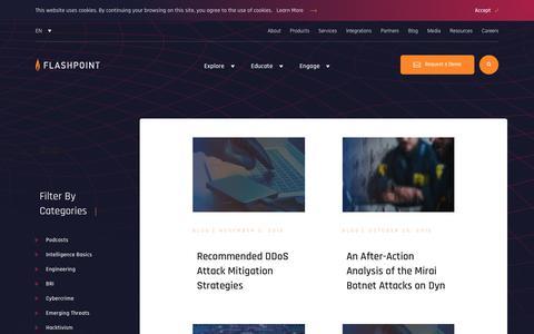 Screenshot of Blog flashpoint-intel.com - Flashpoint - Trending - captured Nov. 12, 2019