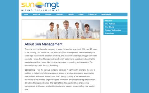 Screenshot of About Page sunmanagement.net - About Sun Management - Sun Management - captured Jan. 12, 2016