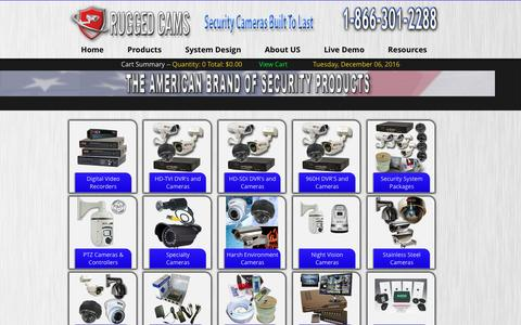 Screenshot of Products Page ruggedcams.com - Business Surveillance Camera System - Commercial Security Cameras | Rugged Cams - captured Dec. 6, 2016