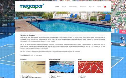 Screenshot of Home Page megaspor.com - Megaspor - Home - captured Sept. 30, 2014